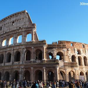 ローマ:年末のコロッセオと歩き疲れる私
