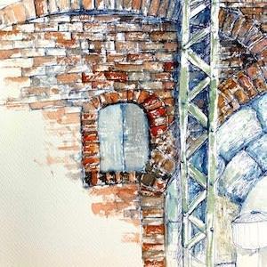 高架下の煉瓦