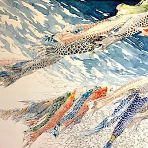 宇宙(そら)を泳ぐ鯉のぼり
