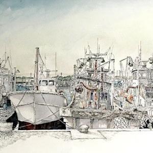 漁船の群れに出逢う