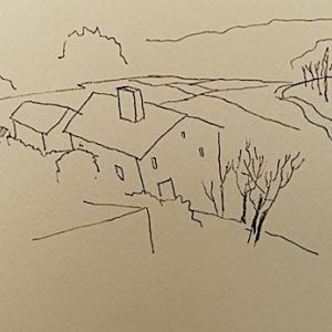 バルセロナ郊外の田舎風景