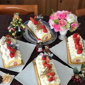 ☆至福の時間♪『おめかし苺のXmasロールケーキ』のレッスン☆