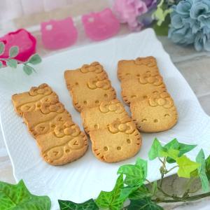 ☆2つのことを試したくて焼いた『キティちゃんのクッキー』☆