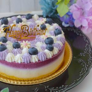 ☆『ブルーベリー&ヨーグルトの紫陽花ケーキ』☆