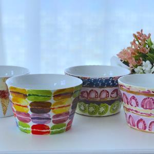 ☆『お菓子みたいな食器』と『おおきな虹』☆