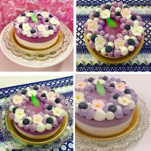慣れてないことは難しく感じる!?受講者さんの作られた『ブルーベリー&ヨーグルトケーキ』