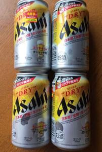 アサヒ・スーパードライ 生ジョッキ缶。