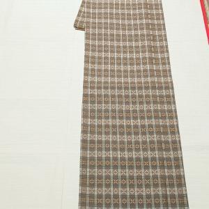 琉球花織り風ポリ着物~八重山みんさーの半幅帯~