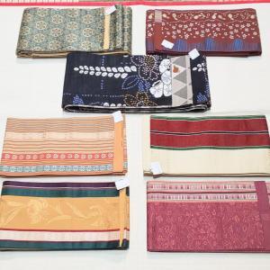 半幅帯入荷~西陣織り、博多織り、ポリ~