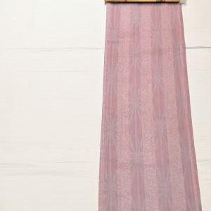 縞柄と麻の葉柄のポリ~博多織りの名古屋帯~