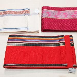 半幅帯追加しました!~博多織り、木綿、撫松庵の半幅帯~