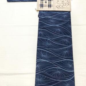 阿波正藍しじら織り~生紬の藍色名古屋帯~
