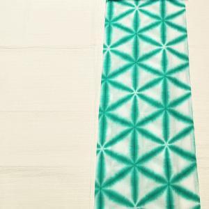 雪花絞り浴衣~緑青色 状態良好~