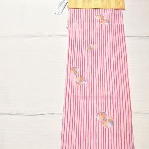 kansai 夏のお着物~ストライプに紙風船 紗献上の名古屋帯~