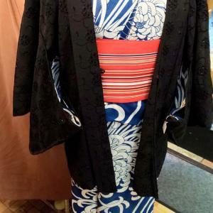 レース羽織り~黒のシックな羽織り~