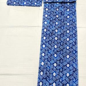 セール☆有松鳴海絞りの浴衣~綺麗な青色~