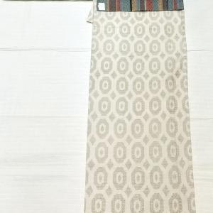 単衣の紬 亀甲柄~手織り博多織りの証紙付き 名古屋帯~