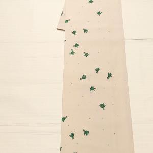 きもの英(はなぶさ)謹製 小紋~川島織物 雪の結晶柄の半幅帯~