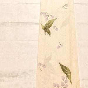 染橘香 鈴蘭柄の浴衣 淡いクリーム色~抽選販売~