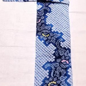 有松鳴海絞りの浴衣 ~涼しげな青に白多め~