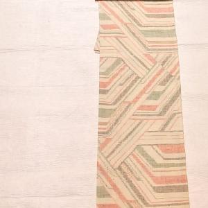 単衣の紬 不思議な柄~博多織りの名古屋帯 献上柄~