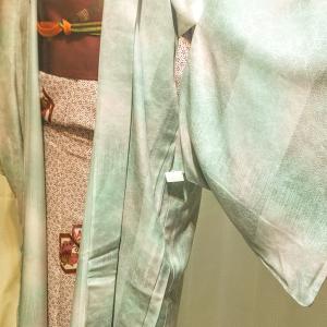 単衣の長羽織り~水面のようなぼかし ミントグリーン~