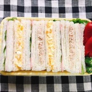 【お弁当】どシンプルなサンドイッチ。新しいクーポンに気になるもの。