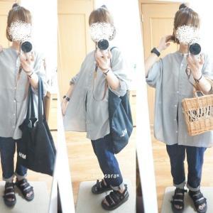 【着画】SM2 blueのシアーシャツ着てみました^^今日は20時からお買い物マラソン~!!
