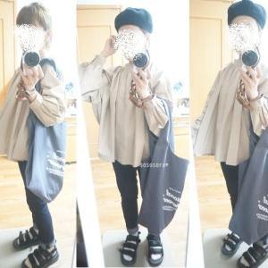 【着画】プチプラブラウスに届いたTraditional Weatherwearのマルシェバッグ!!