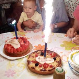 義両親の誕生日と、出来る2歳児