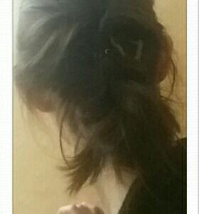 今日のヘアスタイル【くるりんぱシニヨン】
