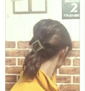 今日のヘアスタイル【ゆるシニヨン】