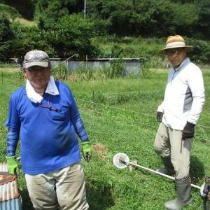 味噌づくり2021開始~大豆畑の草刈り