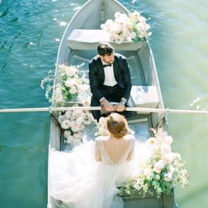良いアングル ボートウェディング写真