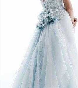 サムシングブルーウェディングドレス