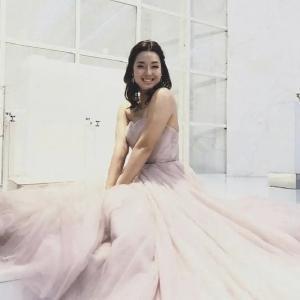 すみれさんのピンクドレス