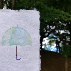*雨音がここちよい