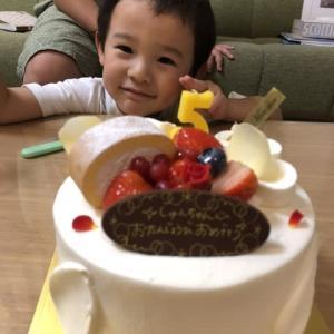 孫の5歳誕生日!