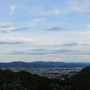 京都市街を見下ろす