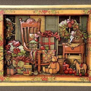 クリスマスのシャドーボックス