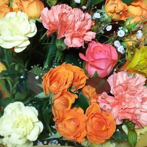 花束を頂いた