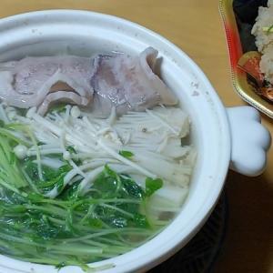 豆苗 エノキ 豚肉で鍋