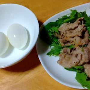 豚肉の生姜焼きとゆで卵