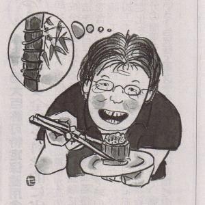 真竹煮てたら12年前のこと思い出して、野村たかあきさんに届けたら、鬼を描いた鉢をもらった海老鯛な雨の日…