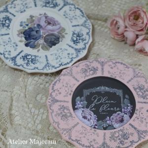 Petiteplate rose&Blue tulip plate
