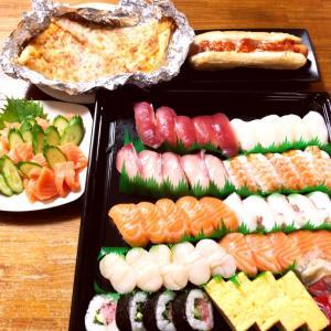 コストコデーの晩御飯と最近の晩御飯、コストコファミリー寿司、サーモン