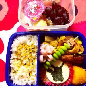 最近の学童お弁当とわっぱお弁当、コストコレポ(イージーセットプール)食品サンプル携帯ケース