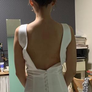 ウェディングドレス肩ひも直し