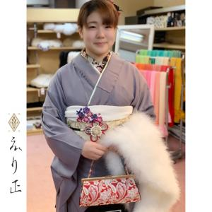 成人式振袖の小物合わせ。コーデイネートでお喜び頂けました♫|神戸市北区 えり正