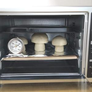 オーブン陶土のヤマドリタケを焼成